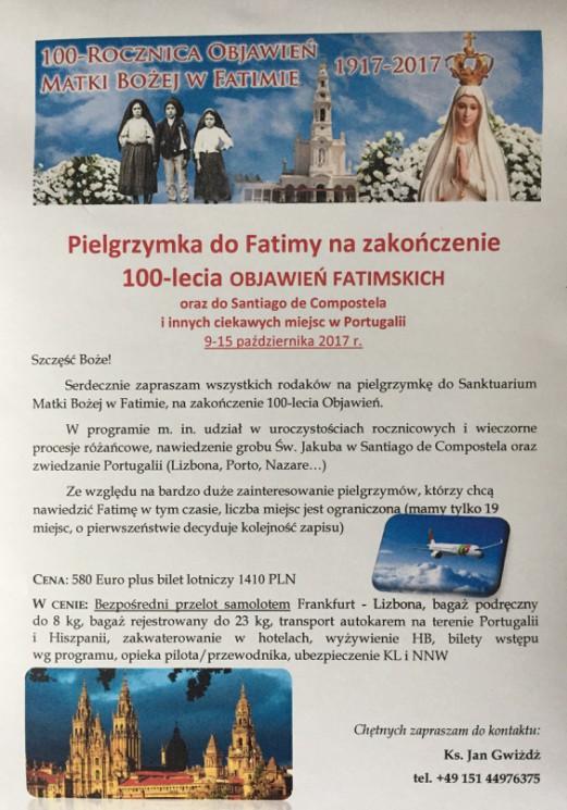 Jubileuszowa Pielgrzymka do Fatimy