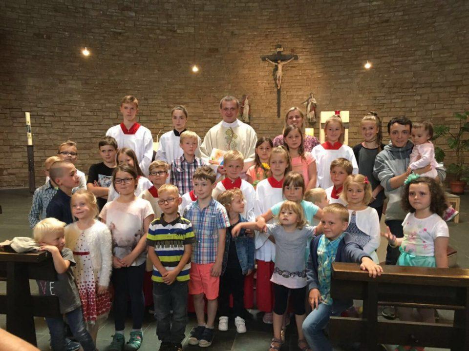 Zakończenie roku szkolnego i przyjęcie nowych ministrantów